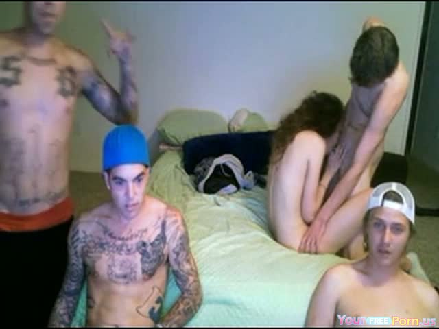 4 Guys And 1 Girl Have Fun Online