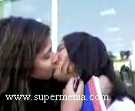 Girls kissing so hot in collage