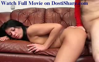 Deep Throating On A Leather Sofa