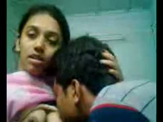 Hot scenes of college pair at home