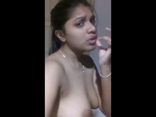 Cute Teenage girlfriend Exposes Boobs and Fingers Pussy