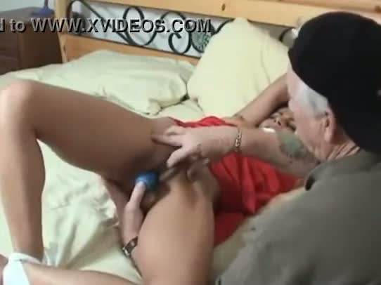 New Delhi young girl dildo and sex toys fucking by grand father