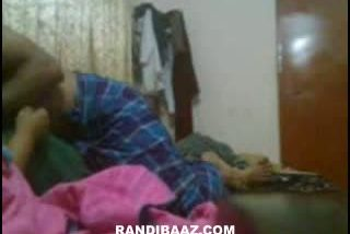 Indian bhabhi caught by hidden cam during sex with servant