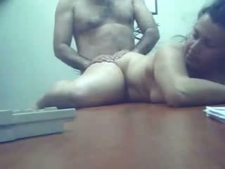 Mature housewife hardcore office sex with boss