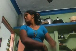 Indian Tamil aunty exposing boobs to owner's son