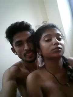 Telugu home sex video of young lovers selfie naked mms
