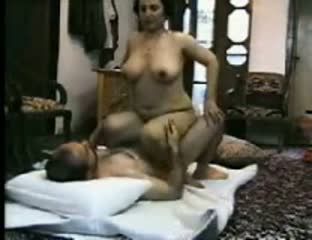 Muslim mature porn video of busty aunty riding neighbor's dick