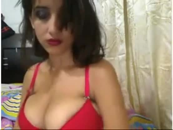 Big tits model showing off her sexy assets to her lover