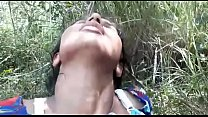 Sexy teen fucked hard in the forest