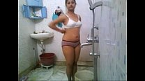 Desi college babe's nude bath in the hostel