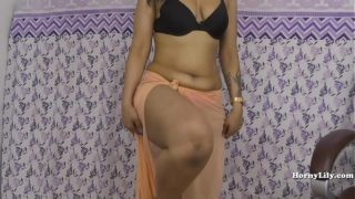 Horny Lily role play as a dominating and horny boss