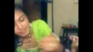 Indian blowjob of a hot and slim bhabhi