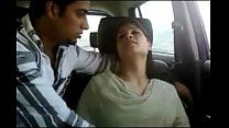 Naughty desi wife gives a hot blowjob inside the car