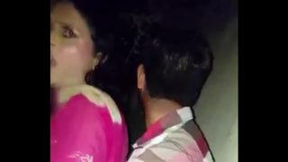 Indian shemale caught having sex outside