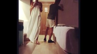 Nude Milf Flashing Her Body To Room Service