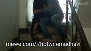 Friend's Sexy Wife Madhavi Fucked In Stairwell