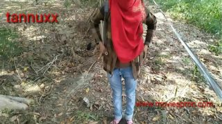 Indian Teen's Ass Fucked In Forest