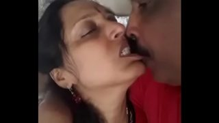 Hot Kiss With Friend's Horny Wife