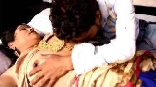 Newly Married Desi Couple's Arousing Suhagrat Video