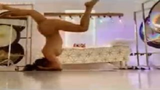 Gorgeous Indian Celebrity Self Recorded Naked Yoga