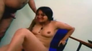 Hot indian secretary fuck with boss on office chair