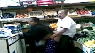 Hot punjabi aunty ass fucked in super market